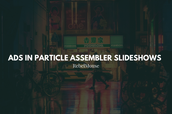 Ads in Particle Assembler Slideshows