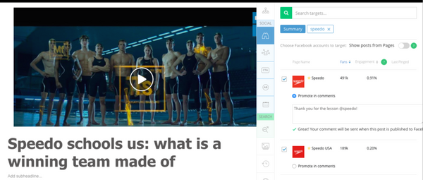 Targets in the Social Scheduler: finding the right audience was never easier