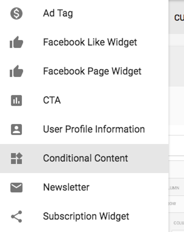 Conditional Content: how to add elements to certain devices
