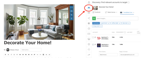 Target Social Accounts With Rebel Discovery