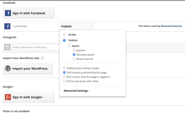 Discovery: Facebook Feed Settings