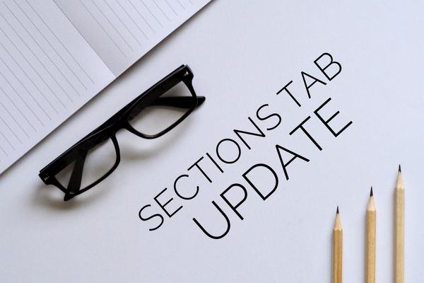 NEW! Sections Tab Update