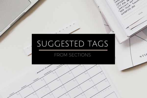 NEW! Suggested Tags from Sections
