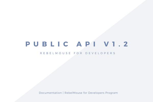 RebelMouse Public API v1.2