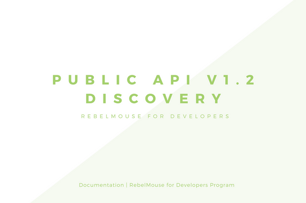 Public API v1.2 - Discovery