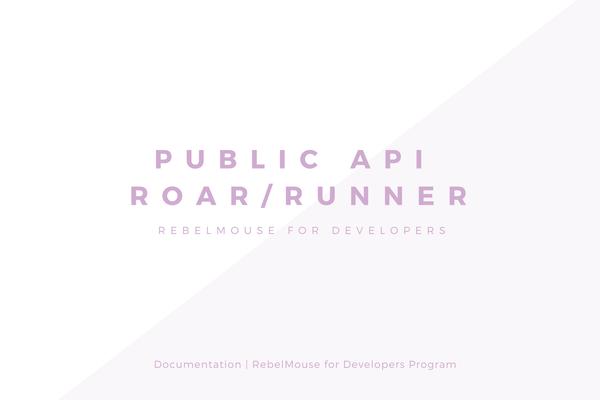 Public API v1.0 - Roar/Runner