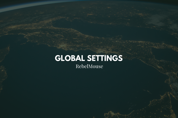Manage Your Site's Global Settings