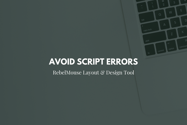 """How to Fix: Script Error That Prevents Elements From Loading 