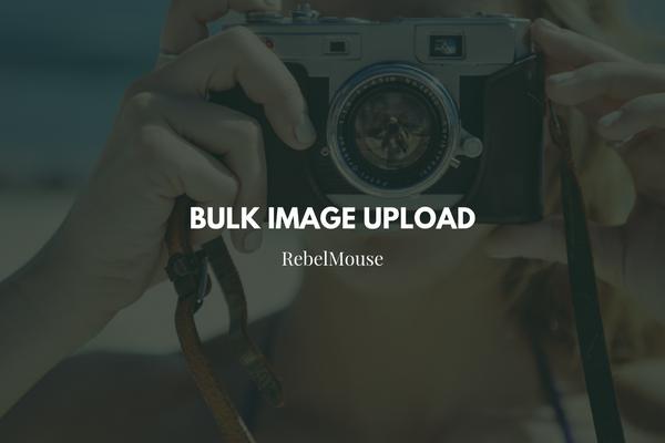 Bulk Image Upload in Entry Editor