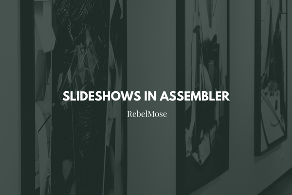 Assembler Slideshows: Now With Thumbnail and Number Control