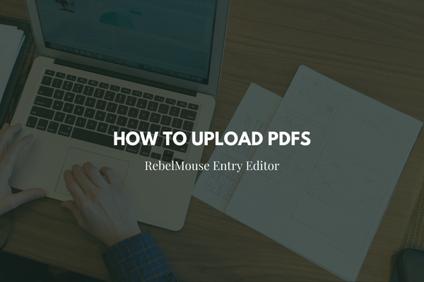 How to Upload PDFs in Entry Editor