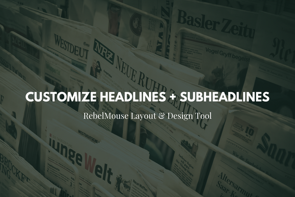 How to Use Override Tags for Headlines + Subheadlines