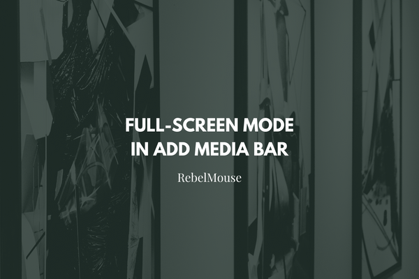 View Your Add Media Bar Results in Full-Screen Mode