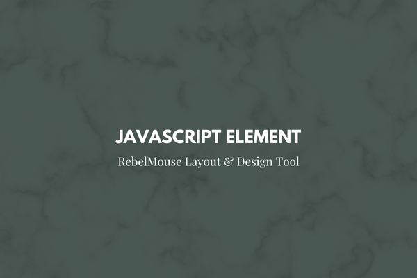 New JavaScript Element in Layout & Design Tool