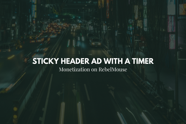 How to Add a Sticky Header Ad With a Timer