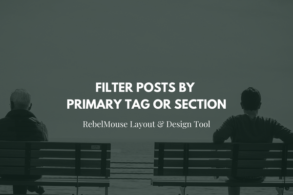 Filter Posts by Primary Tag or Section