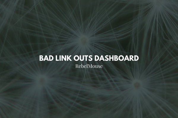 Identify Broken URLs in Our Bad Link Outs Dashboard
