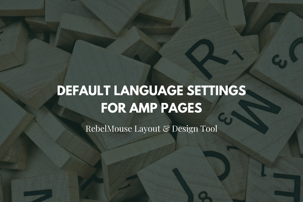 How to Change the Default Language for AMP Pages