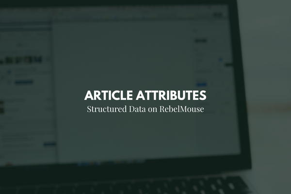 Structured Data: Choose Your Article Attribute