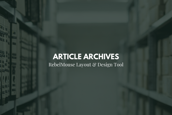 How to Set up an Article Archive