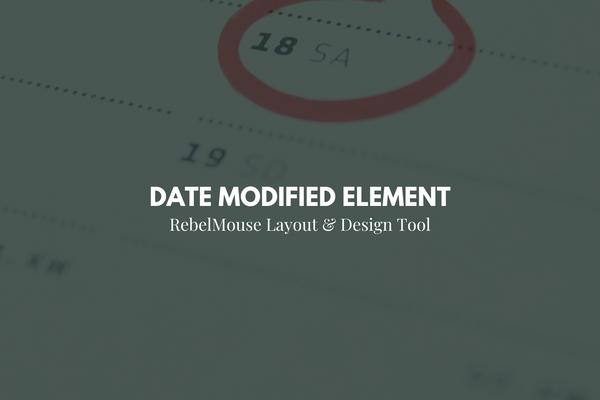 Keep Readers Informed With Date Modified Element