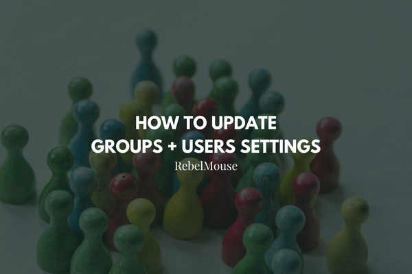 How to Update Groups and Users