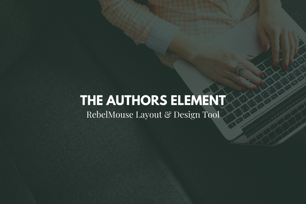 How to Use the Authors Element