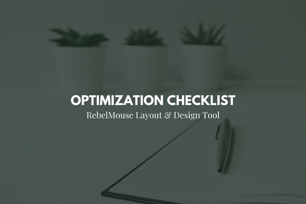 Layout & Design Tool Optimization Checklist