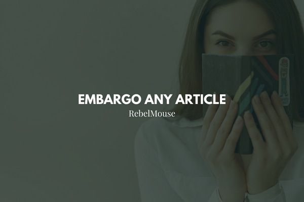 How to Set an Article's Embargo Date and Time