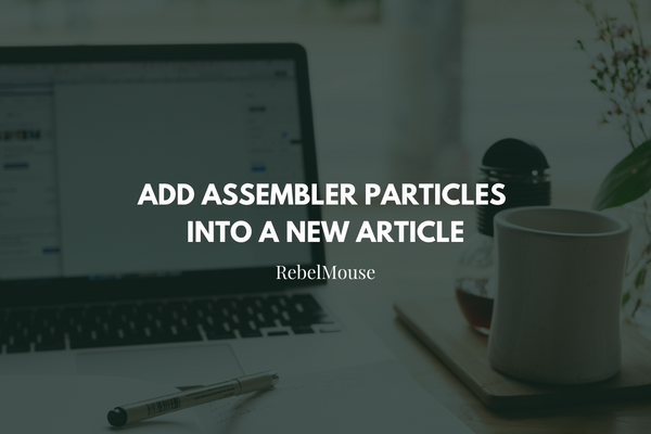 How to Add Assembler Particles Into a New Article