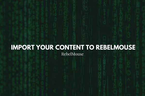 Content Import Requirements