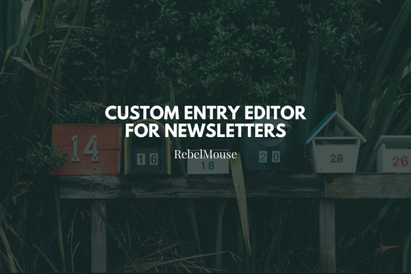 Customize Your Entry Editor for Newsletters
