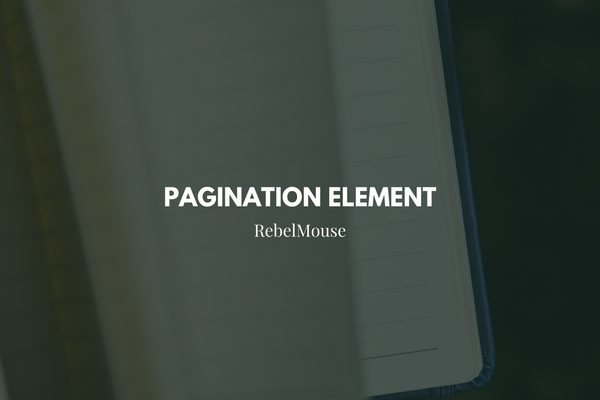 How to Use the Pagination Element