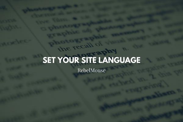 SEO Tool: Set Your Site Language