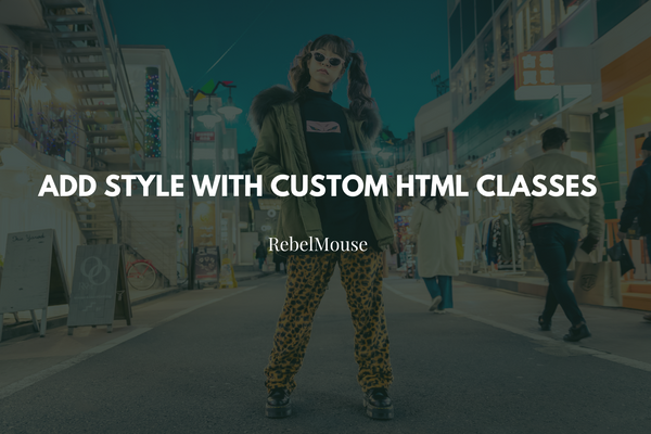 Add Style to Articles With HTML Class Selectors