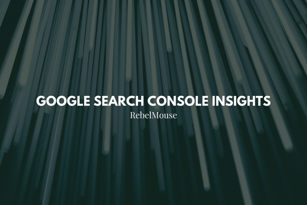 what is google search console insights